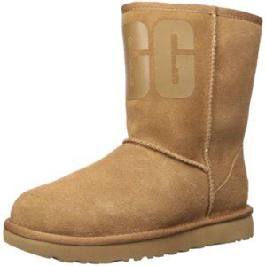 UGG Women's Classic Short Rubber Logo Boot