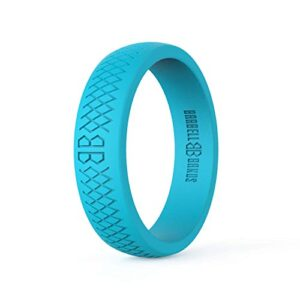 Barbell Bands Silicone Ring for Women | Premium Rubber Wedding Band | Perfect for Fitness, Lifting, Active Lifestyle…