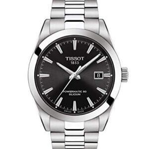 Tissot mens Gentleman Stainless Steel Dress Watch Grey T1274071105100
