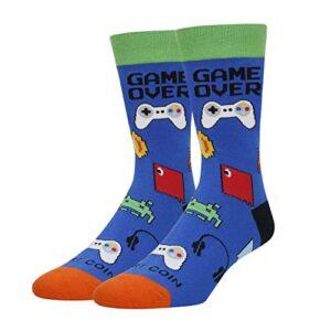 HAPPYPOP Men's Math Chemistry Biology Game Socks Funny Teacher Nerd Genius Socks-Gift For Math Chemistry Teacher