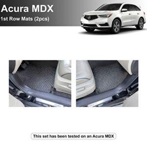 YelloPro Custom fit Heavy Duty 1st Row Mats (2pcs) Floor Mat Accessories for Acura MDX – 2014 2015 2016 2017 2018 2019…