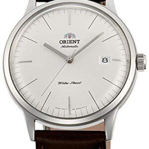 Orient Men's Stainless Steel Automatic Watch with Leather Strap, Brown, 22 (Model: FAC0000EW0)