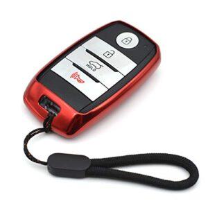 Compatible with Kia Forte Koup Optima Rio Sedona Sorento Soul EV Sportage Niro Forte5 Black TPU Key Fob Cover Case…