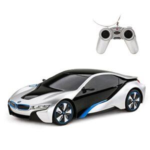 BMW i8 RC Car   Rastar BMW i8 1/24 Remote Control Car, BMW Toy Car – Silver