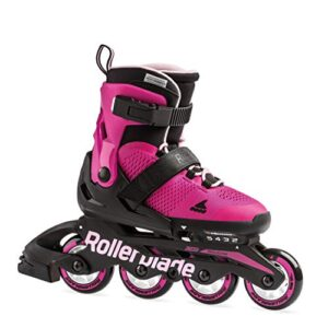 Rollerblade Microblade Girl's Adjustable Fitness Inline Skate, Pink and Bubble Gum, Junior, Youth Performance Inline…
