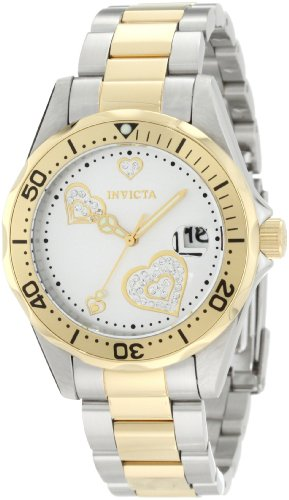 Invicta Women's Angel 38mm Steel and Gold Tone Stainless Steel Quartz Watch, Two Tone (Model: 12287)