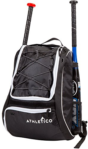 Athletico Baseball Bat Bag – Backpack for Baseball, T-Ball & Softball Equipment & Gear for Youth and Adults | Holds Bat…