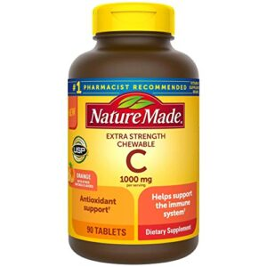 Nature Made Extra Strength Vitamin C Chewable 1000mg, for Immune Support, Antioxidant Support, Supports Iron Absorption…