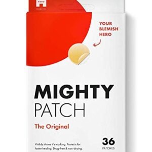 Mighty Patch Original – Hydrocolloid Acne Pimple Patch (36 Count) for Face, Vegan, Cruelty-Free…