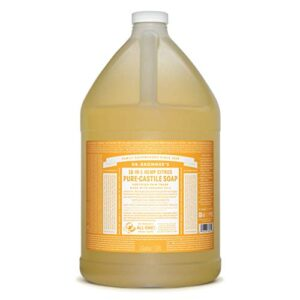 Dr. Bronner's – Pure-Castile Liquid Soap (Citrus, 1 Gallon) – Made with Organic Oils, 18-in-1 Uses: Face, Body, Hair…