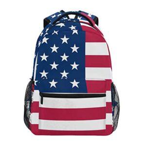 Nander Backpack Travel American Flag School Bookbags Shoulder Laptop Daypack College Bag for Womens Mens Boys Girls