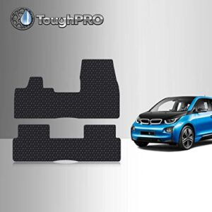 TOUGHPRO Floor Mat Accessories Set (Front Row + 2nd Row) Compatible with BMW i3 – All Weather – Heavy Duty – (Made in…