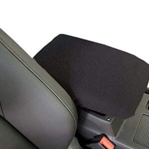 Car Console Covers Plus Made in USA Fleece Auto Armrest Center Console Cover Designed to fit Kia NIRO 2017-2021 Black