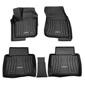 LASFIT Custom Floor Mats for 2017-2020 Lincoln MKZ / Ford Fusion (No Hybrid), All Weather TPE Floor Liners, Front & Rear…