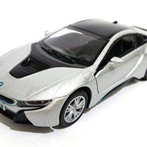 Kinsmart New 1:36 Display – Silver Color BMW I8 Diecast Model Car