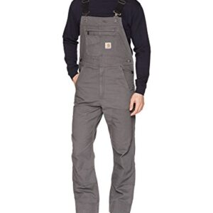 Carhartt mens Rugged Flex Relaxed Fit Canvas Bib Overall