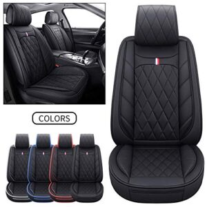2 Front Captain Seat Covers Waterproof Leather Non-Slip Cushions Universal Fit for Honda Civic CRV Toyota 4Runner…
