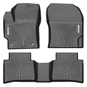 YITAMOTOR Floor Mats Compatible with 2020-2021 Toyota Corolla Hybrid LE, Custom Fit Black TPE Floor Liners 1st & 2nd Row…