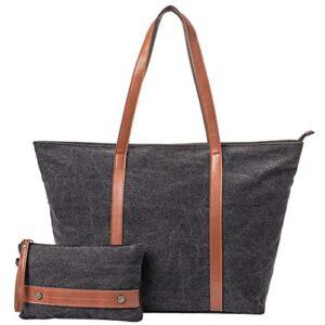 Peacechaos Women's Canvas Waterproof Shoulder Hand Bag Tote Bag Purse Handbag (Army Green)