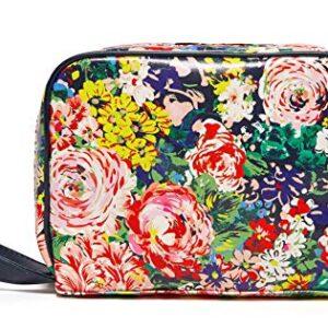 Ban.do Women's Vegan Leather Getaway Toiletry Bag, Travel Kit Organizer Bag for Makeup and Toiletries, Flower Shop