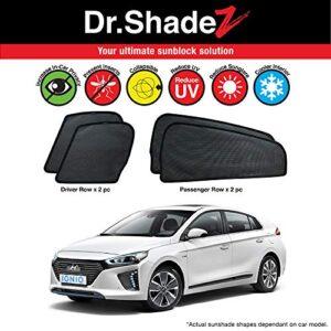 Dr Shadez Car Window Custom Fitted Magnetic Sunshades for Hyundai Ioniq Hybrid AE 2016 2017 2018 2019 4 Pieces