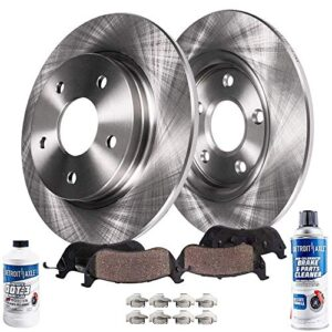 Detroit Axle – Pair (2) Rear 302mm Disc Brake Kit Rotors w/Ceramic Pads w/Hardware for 2013-2016 Ford Fusion Except…