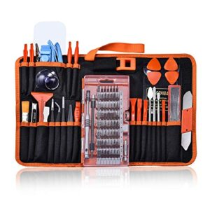 GANGZHIBAO 90pcs Electronics Repair Tool Kit Professional, Precision Screwdriver Set Magnetic for Fix Open Pry Cell…