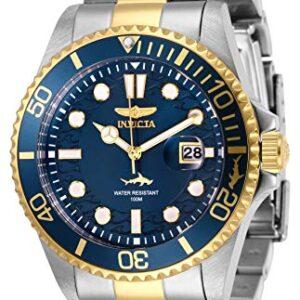 Invicta Men's Pro Diver 43mm Stainless Steel Quartz Watch, Two Tone/Blue (Model: 30021)