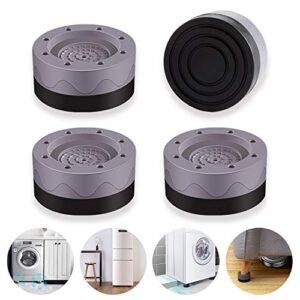 tebrigo Shock and Noise Cancelling Washing Machine Support, Anti Slip Anti Vibration Rubber Washing Machine Feet Pads…