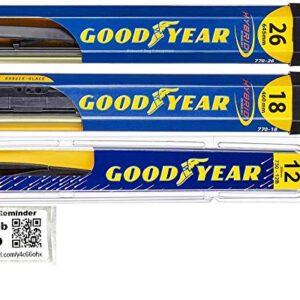 Windshield Wiper Blade Set/Kit/Bundle for 2014-2019 Mitsubishi Outlander – Driver, Passenger Blade & Rear Blade…