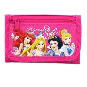 Disney Princess Style Hot Pink Trifold Wallet – 1 WALLET ONLY