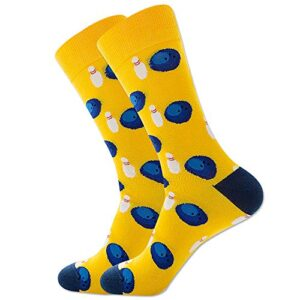 Men's Novelty Fun Sport Theme Basketball Volleyball Soccer Rugby Bowling Socks