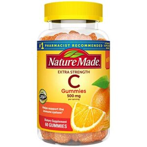 Nature Made Extra Strength Vitamin C Gummies 500mg, 60 Count, for Immune Support, Antioxidant Support, Collagen Support…