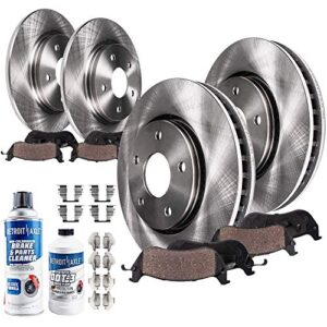 Detroit Axle – 300mm FRONT & 302mm REAR Disc Brake Rotors & Ceramic Pads Compatible with 2013-2016 Lincoln MKZ Hybrid…