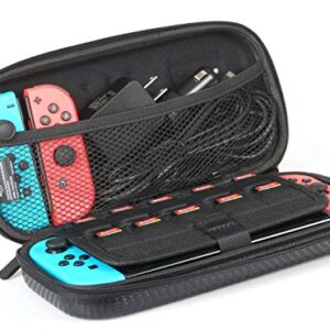 Amazon Basics Carrying Case for Nintendo Switch and Accessories – 10 x 2 x 5 Inches, Black