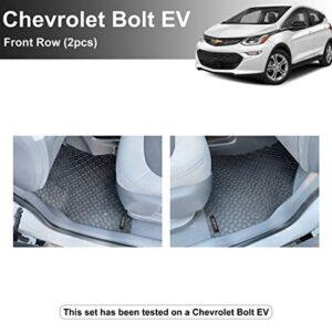 YelloPro Custom fit Heavy Duty 1st Row Floor Mats for Chevrolet Bolt EV 2017 2018 2019 2020 2021 – All Weather Anti-Slip…
