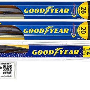 Windshield Wiper Blade Set/Kit/Bundle for 2014-2018 Acura MDX – Driver, Passenger Blade & Rear Blade & Reminder Sticker…