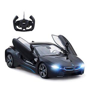 RASTAR Remote Control Car, 1:14 BMW i8 Radio Remote Control Racing RC Toy Car Model Vehicle, Open Doors by RC, MattBlack