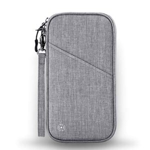 Vemingo Family Passport Holder with Accordion Design RFID – Blocking Travel Wallet Ticket Holder Document Organizer with…