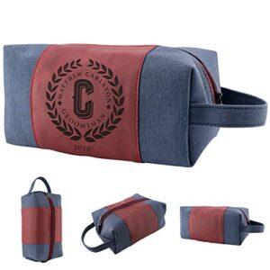 Set of 3 – Personalized Groomsmen Gifts, Custom Men Toiletry Bags – Groomsman Gifts for Wedding, Groomsmen Proposal…