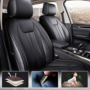 All Weather Custom Fit Seat Covers for VW Touareg 2 5-Seat Full Protection Waterproof Car Seat Covers Black Full Set