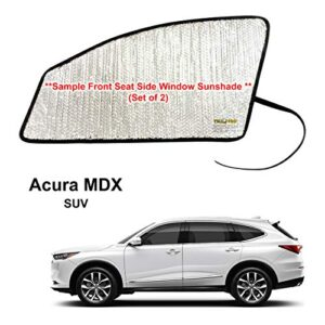 YelloPro Side Window Front Seat Sunshade (Set of 2) Custom Fit for 2022 Acura MDX SUV, Base, Sport, Hybrid, A-Spec, UV…