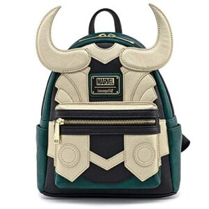 Loungefly Marvel Avengers Loki Cosplay Faux Leather Womens Double Strap Shoulder Bag Purse