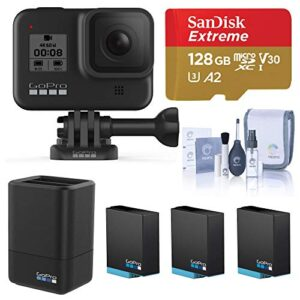 GoPro HERO8 Black, Waterproof Digital Sports and Action Camera with Touch Screen 4K UHD Video 12MP Photos, Power Bundle…