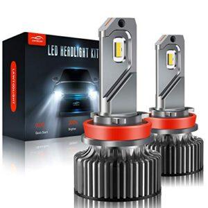 H11/H9/H8 LED Headlight, LAWTOOLIGHT 2-Pack LED Headlight Bulb, 12000 Lumens Super Bright High Low Beam Fog Light, 80W…