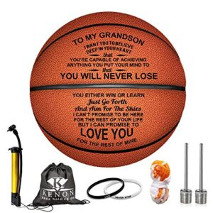Kenon Engraved 29.5 Inch Basketball for Son – Personalized Basketball Indoor/Outdoor Game Ball for Son – You Will Never…