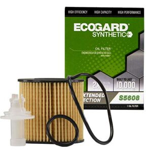 ECOGARD S5608 Premium Cartridge Engine Oil Filter for Synthetic Oil Fits Toyota Camry 2.5L 2010-2017, RAV4 2.5L 2009…