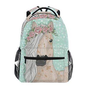 Unicorn Backpack for GirlsCute Elementary School Bookbag For Kids 3rd 4th 5th Grade Cream Unicorn