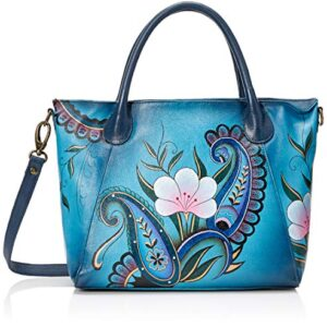 Anna by Anuschka Hand Painted Leather Women's Slouch Tote Bag