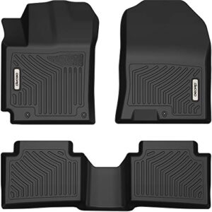 OEDRO Floor Mats Compatible with 2018-2021 Hyundai Kona (NO Electric Models), Unique Black TPE All-Weather Guard…